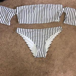 Super cute striped swim